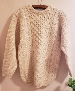Vintage Wool Chunky Knit Pullover Sweater